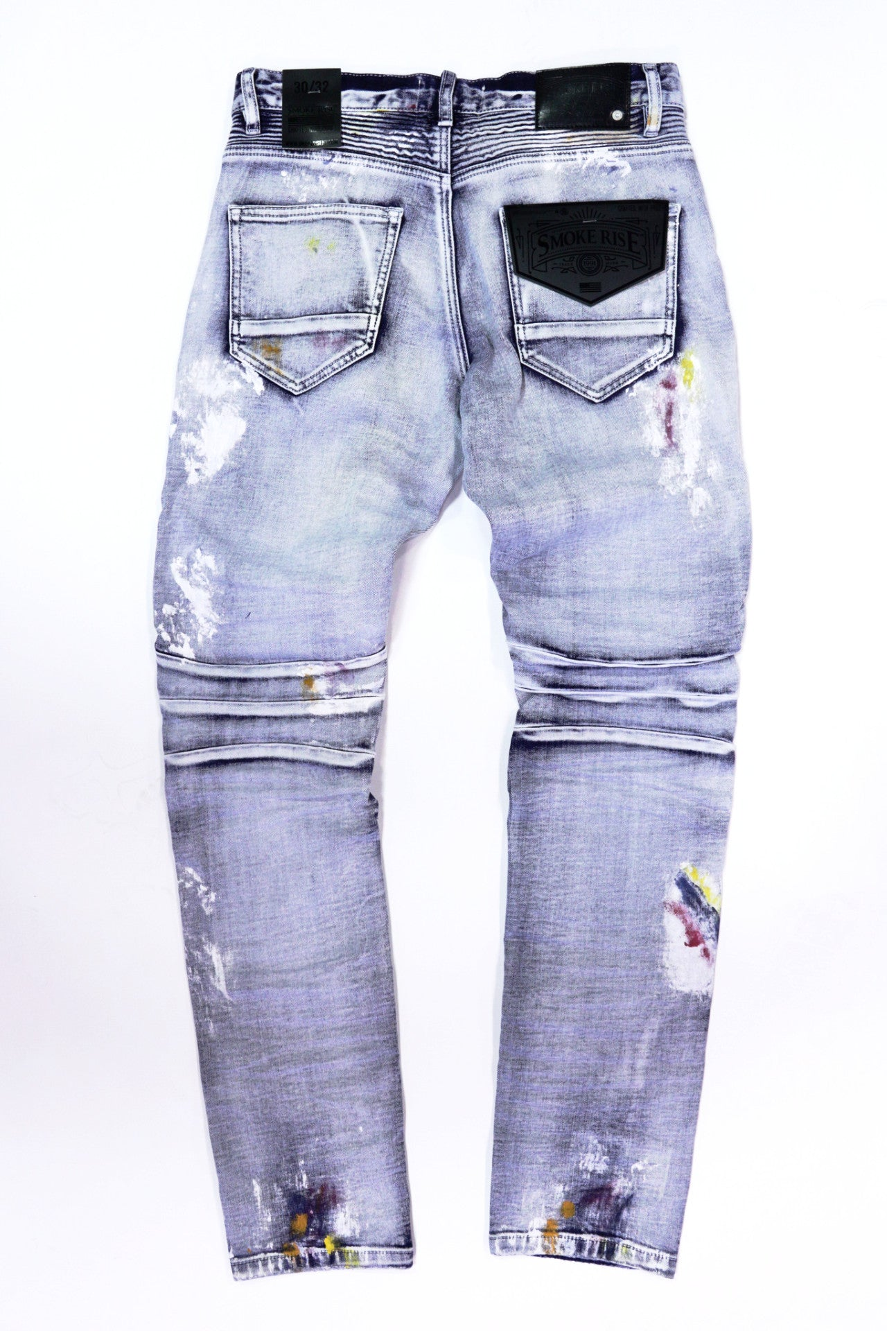 Smoke Rise Biker Denim Jeans