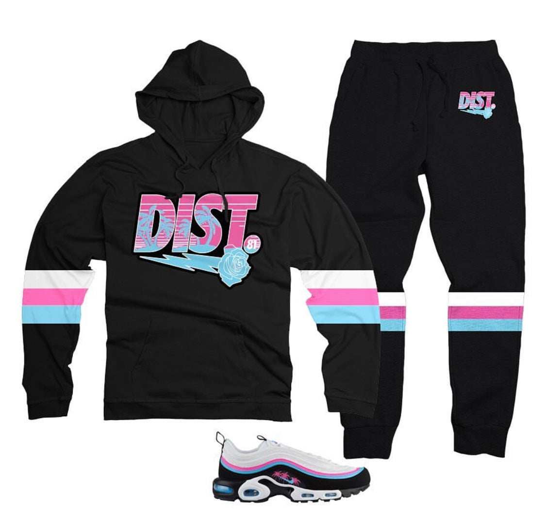 DISTRICT 81 Max Pullover Jogging Suit (Black)