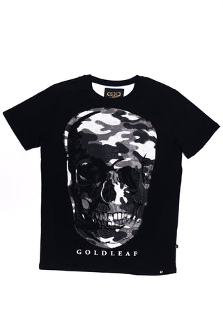GOLD LEAF Skull Fatigue Tee (Black)