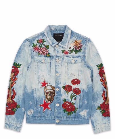 REASON VINTAGE REVIVAL DENIM JACKET (BLUE)