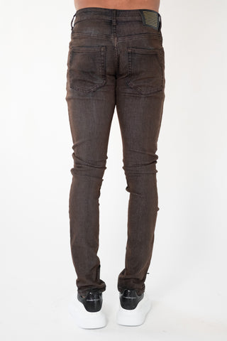 "Serenede ""ANCIENT CHAGA"" JEANS RUSTIC BROWN"