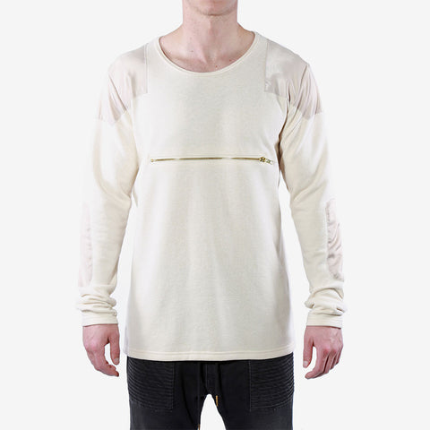 Veritas French Terry Patch sweater Champagne