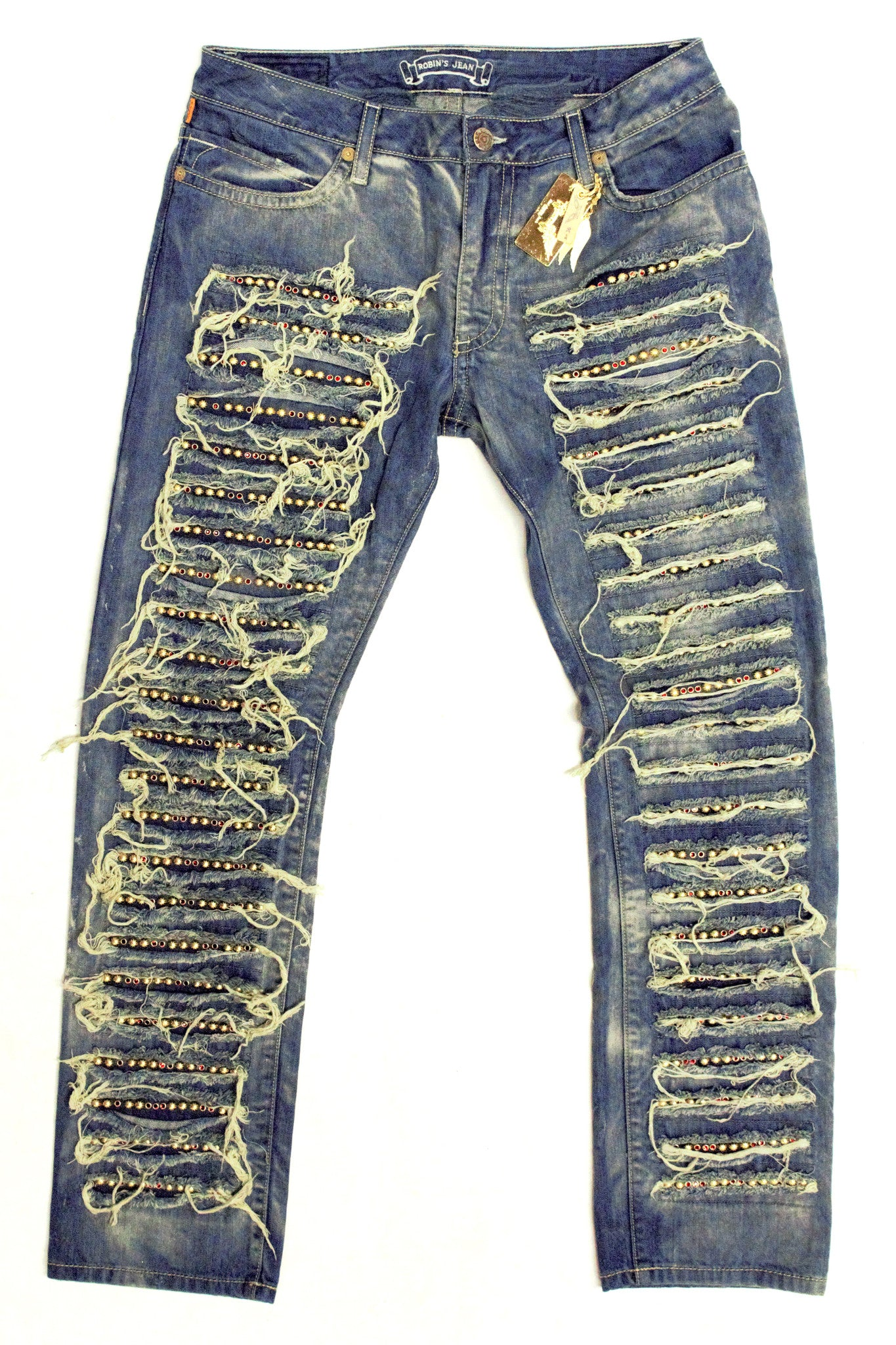 Robins Beaded Distressed Jeans