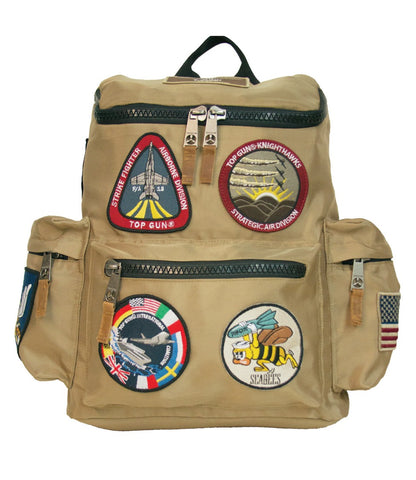TOP GUN Backpack with Patches (Khaki)