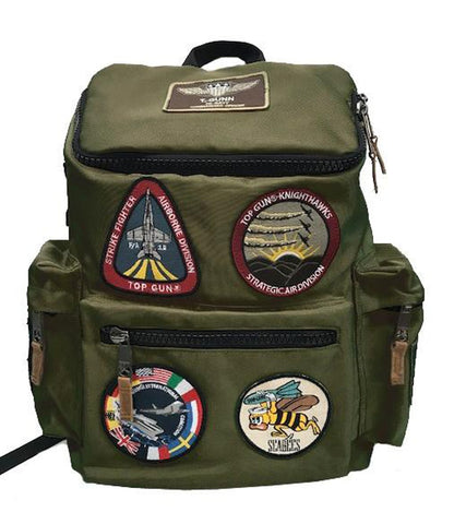 TOP GUN Backpack with Patches (Olive)