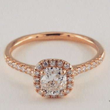 Lumax Cushion Cut Halo Diamond Ring