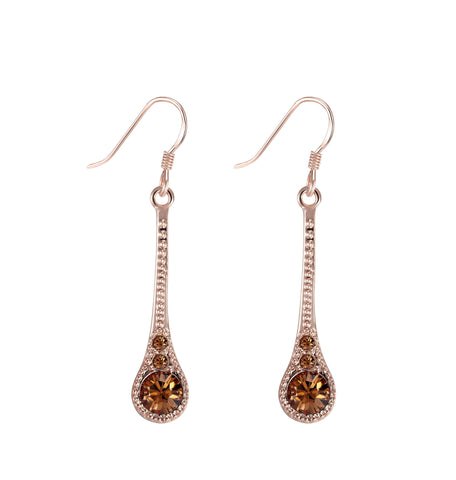Rose Gold Plated Earrings.