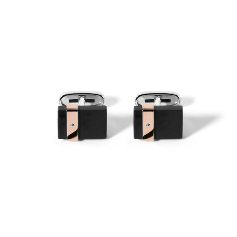 Stainless Steel Black Rose PVD Cufflinks