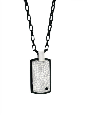 Armada Mate Hammered Dog Tag Pendant