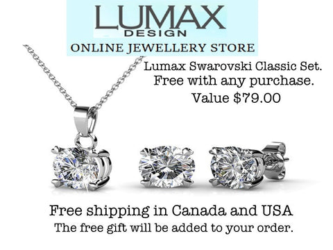 Lumax Swarovski Solitaire Classic Set. FREE with any purchase