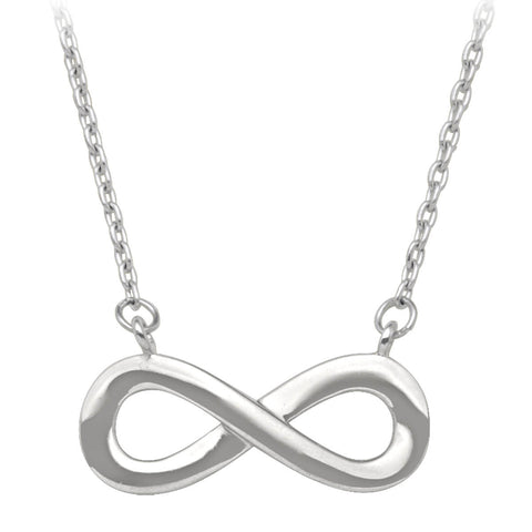 Infinity Necklace. (white gold)
