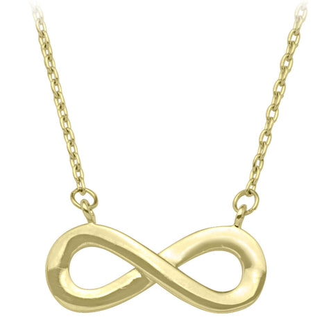 INFINITY NECKLACE. (YELLOW GOLD)