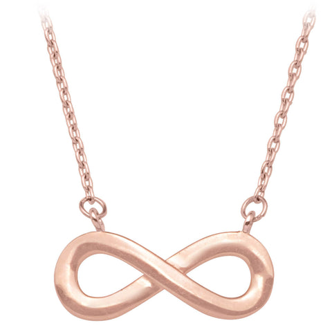 INFINITY NECKLACE. (ROSE GOLD)