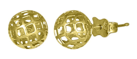 7mm Golden Sphere Mesh Stud