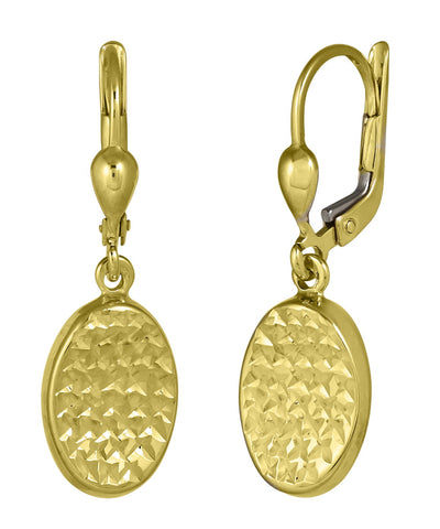 Golden Waffle Matte Earrings