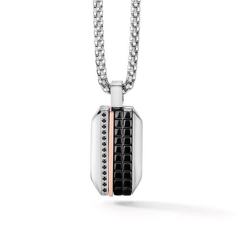 Scacchi Stainless Steel Dog Tag Necklace