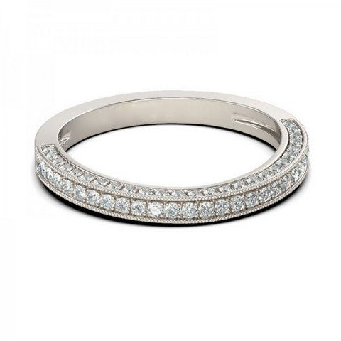 Lumax Pave Wedding Band