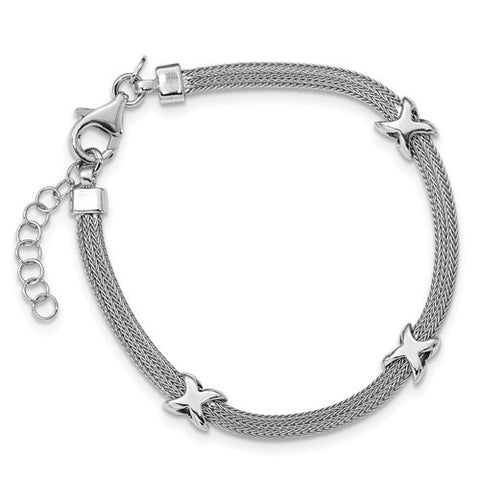 Lumax Leslie's Sterling Silver Polished With 1 In Ext Bracelet