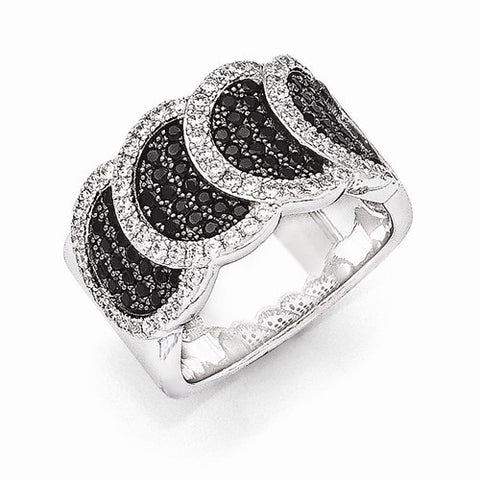 Lumax Sterling Silver And CZ  Ring