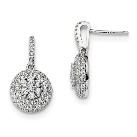 Sterling Silver And CZ Brilliant Post Earrings
