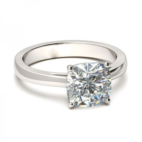 Solitaire Diamond Engagement Ring. (Cushion Cut)