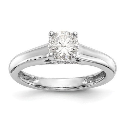 Lumax 14kw Round Solitaire Diamond Ring.