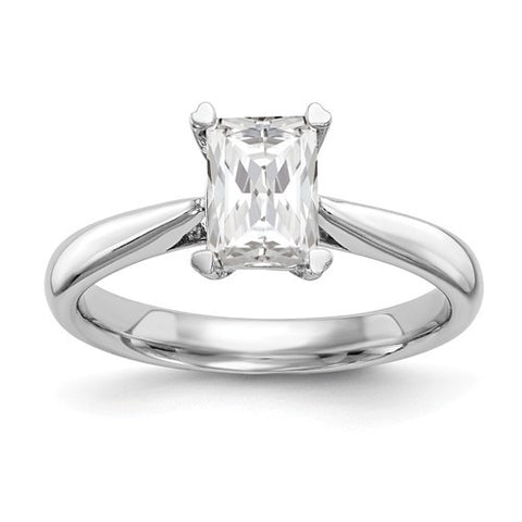 Lumax 14k White Gold Emerald Solitaire Engagement Ring