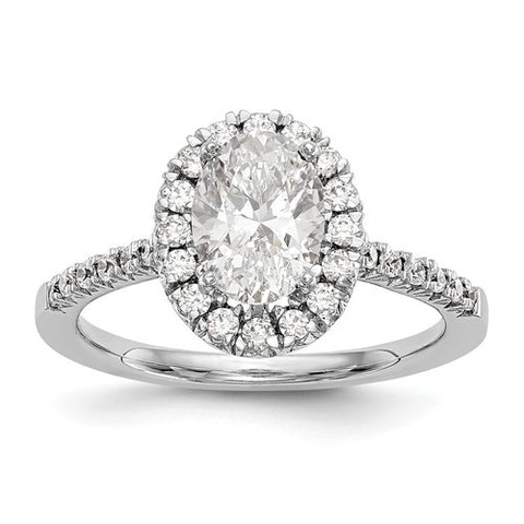 Lumax Oval Halo Engagement Diamond Ring.