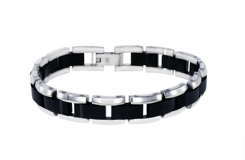 Attraction Stainless Steel Center Link Bracelet.