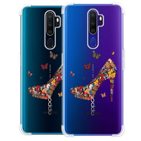 Butterfly High Heels Soft Flex Tpu Case For Oppo A9 2020