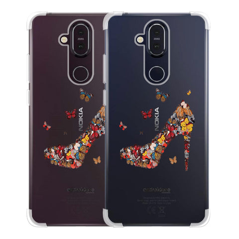Butterfly High Heels Soft Flex Tpu Case For Nokia 8.1