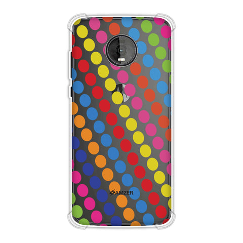 Funky Dot Stripes Soft Flex Tpu Case For Motorola Moto Z4