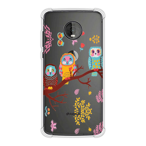 Owls On Branch Soft Flex Tpu Case For Motorola Moto Z4