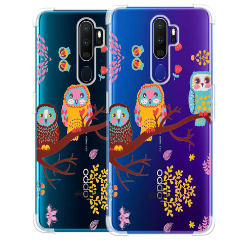 Owls On Branch Soft Flex Tpu Case For Oppo A9 2020
