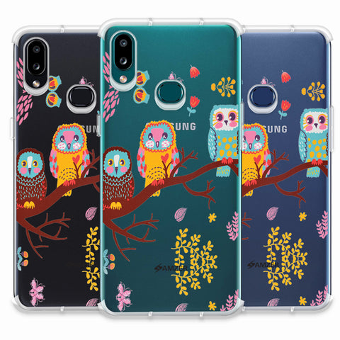 Owls On Branch Soft Flex Tpu Case For Samsung Galaxy A10s
