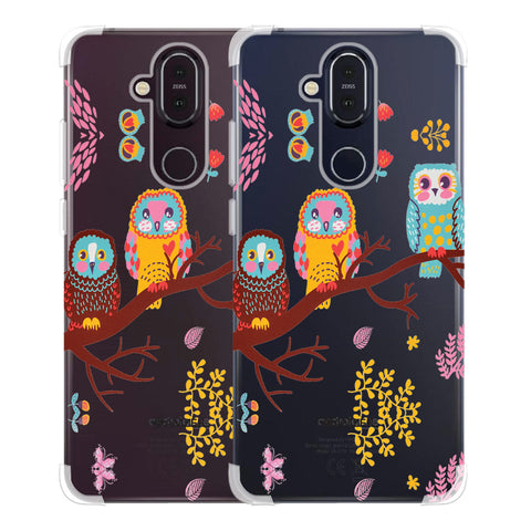 Owls On Branch Soft Flex Tpu Case For Nokia 8.1