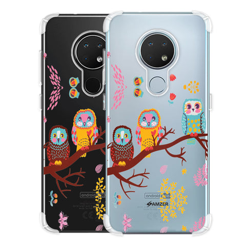 Owls On Branch Soft Flex Tpu Case For Nokia 6.2
