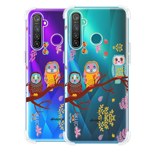 Owls On Branch Soft Flex Tpu Case For Realme Q