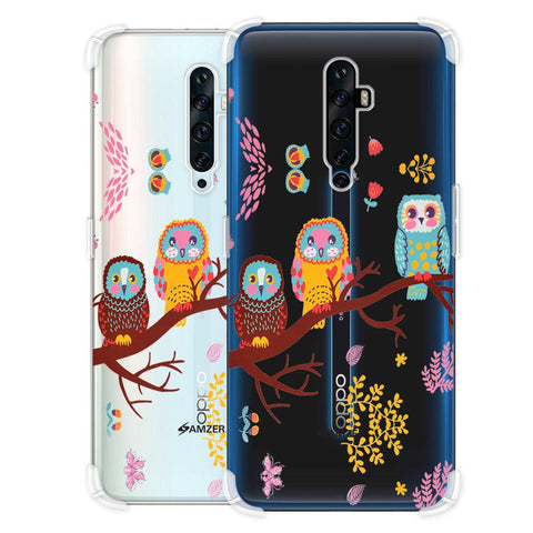 Owls On Branch Soft Flex Tpu Case For Oppo Reno2 Z