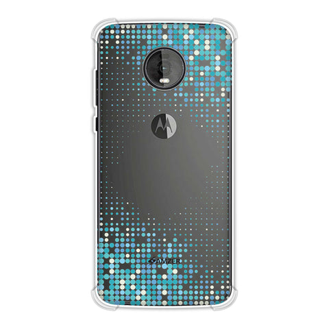 Blue Matrix Soft Flex Tpu Case For Motorola Moto Z4