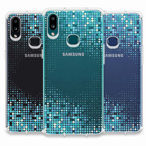 Blue Matrix Soft Flex Tpu Case For Samsung Galaxy A10s