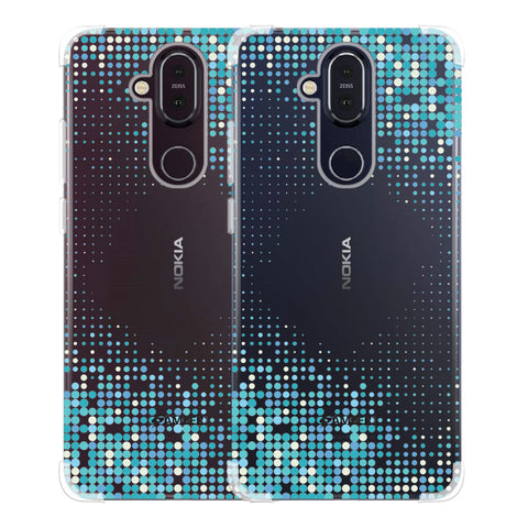 Blue Matrix Soft Flex Tpu Case For Nokia 8.1