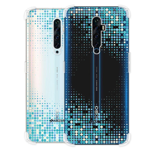 Blue Matrix Soft Flex Tpu Case For Oppo Reno2 Z