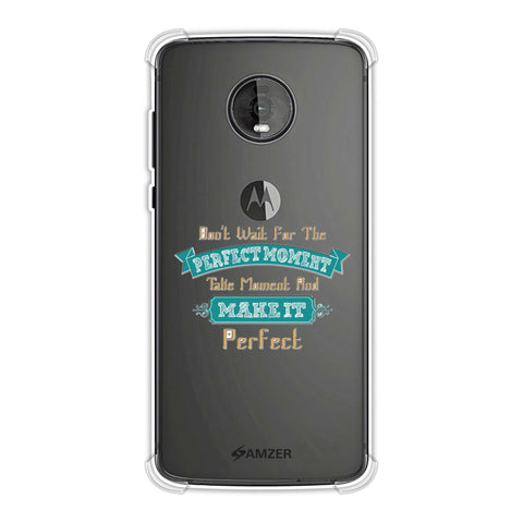 Make Perfect Moment Soft Flex Tpu Case For Motorola Moto Z4