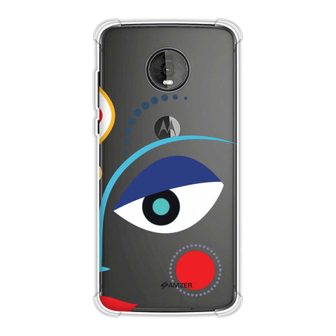 Divine Goddess - Blue Soft Flex Tpu Case For Motorola Moto Z4
