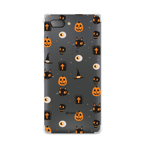 Spooky Collage Soft Flex TPU Case For BlackBerry Key2
