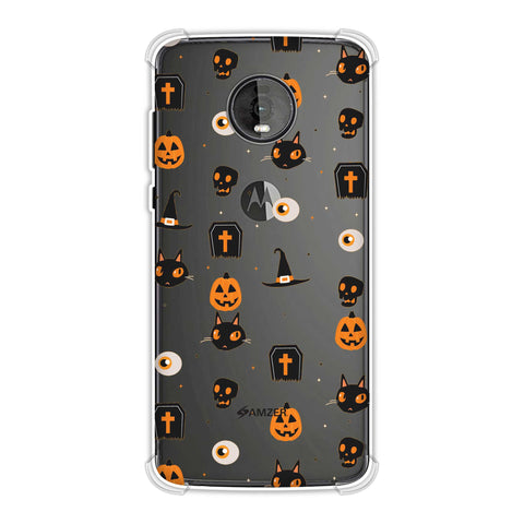 Spooky Collage Soft Flex Tpu Case For Motorola Moto Z4