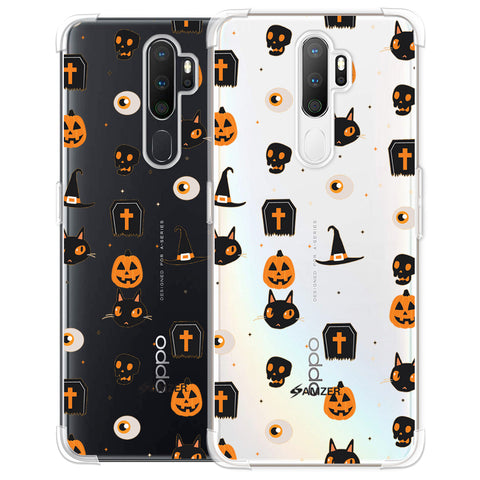 Spooky Collage Soft Flex Tpu Case For Oppo A5 2020