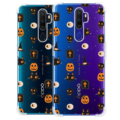 Spooky Collage Soft Flex Tpu Case For Oppo A9 2020