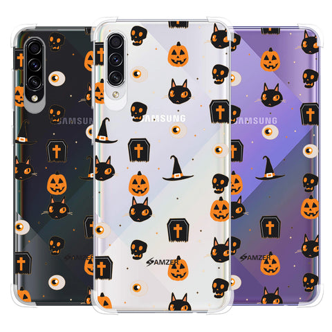 Spooky Collage Soft Flex Tpu Case For Samsung Galaxy A50s